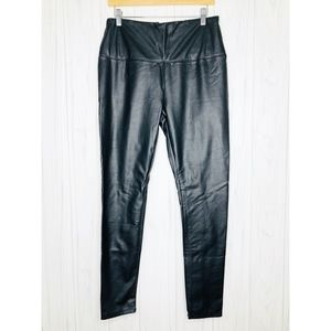 Lysse Black Vegan Faux Leather Leggings